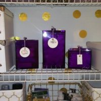 purple canisters