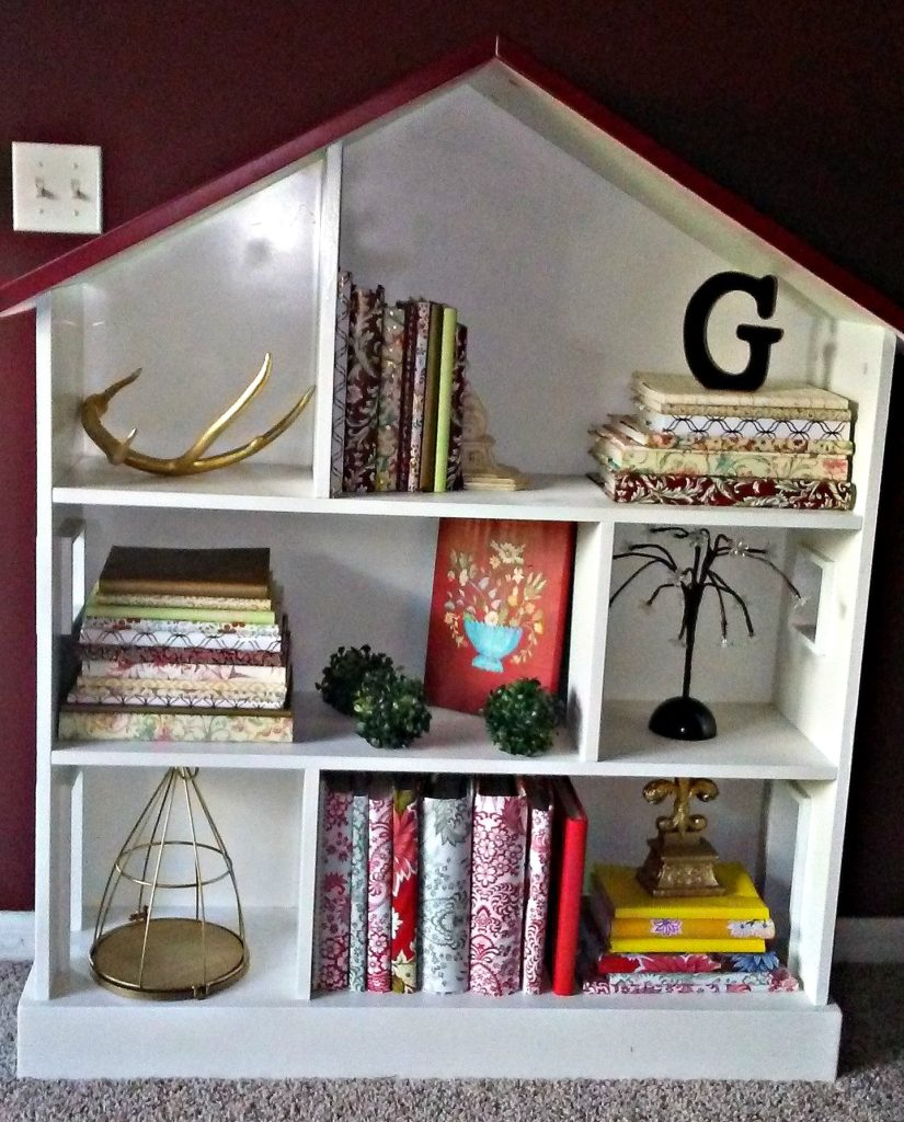 Updated Pottery Barn Kid's Dollhouse Bookcase