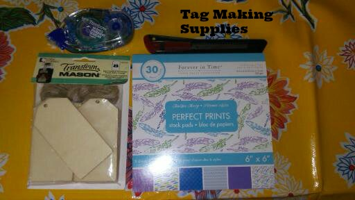 supplies for making tags