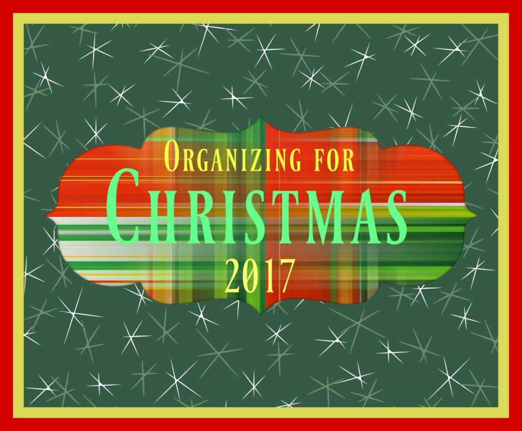 Christmas organizing preparations