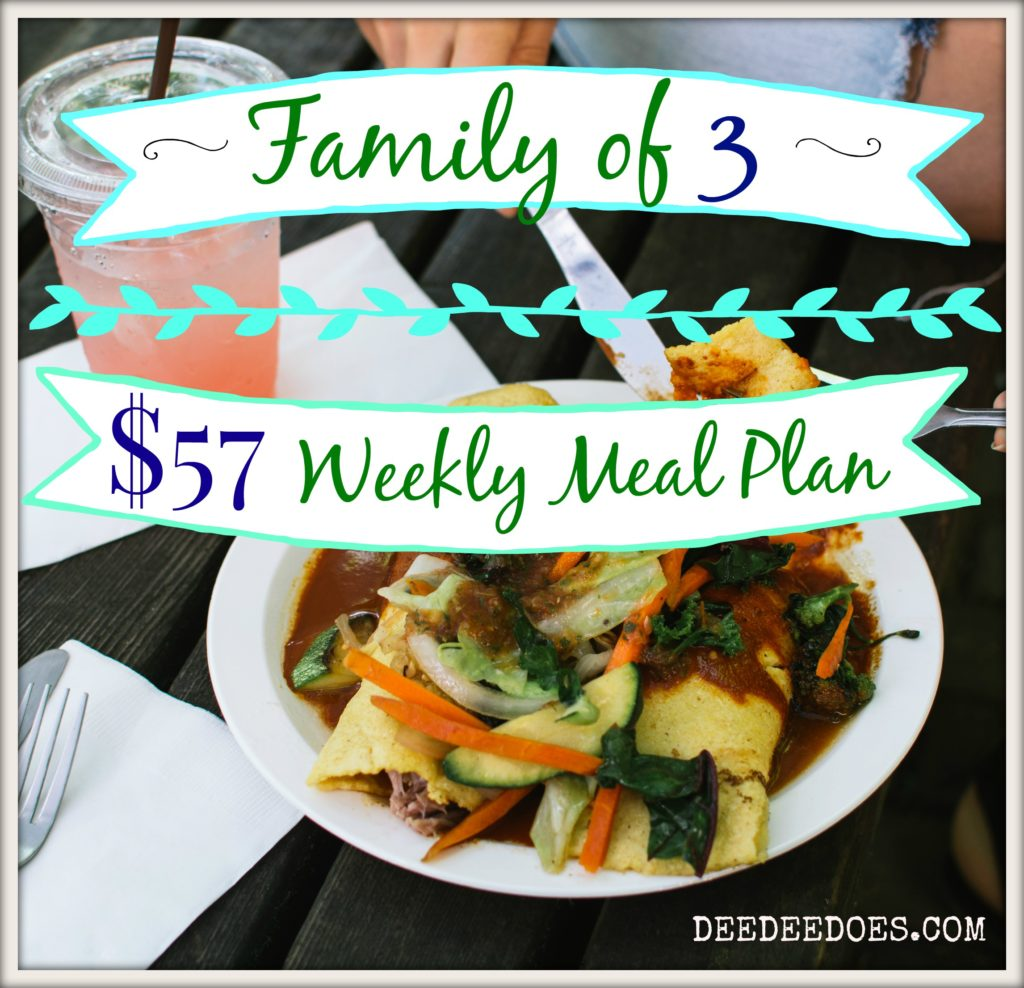 $57 weekly meal plan & grocery haul