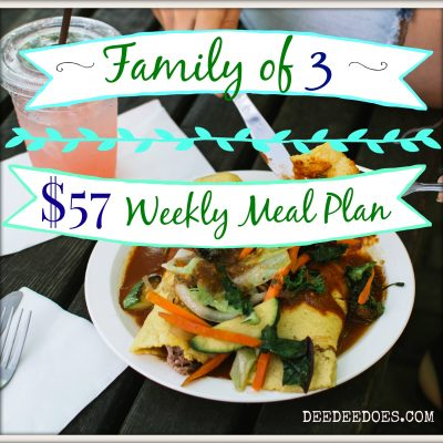 Our Weekly Meal Plan for the Week of August 28-$57 for a Family of 3