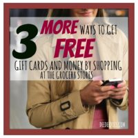 3 ways free gift cards money shopping grocery store