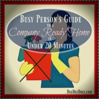 busy person's guide company ready home 20 minutes