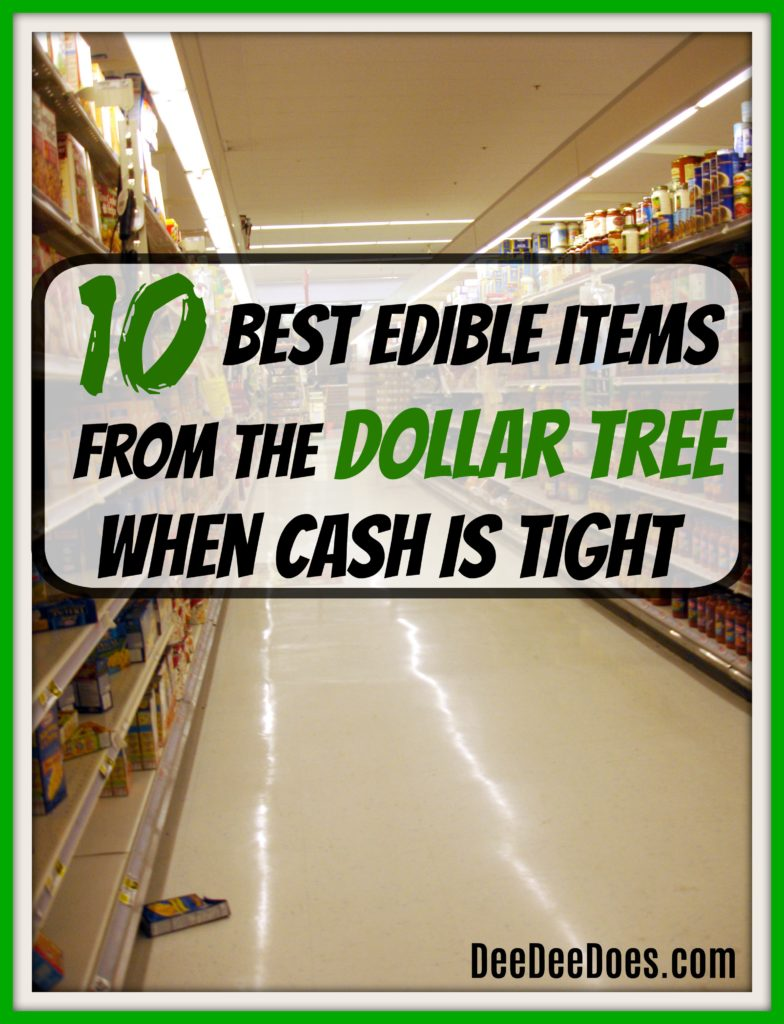 10 edible items Dollar Tree dollar store stock pantry