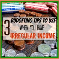 3 budgeting tips irregular income