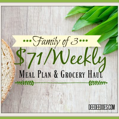 Our Weekly Meal Plan for the Week of September 4 – $71 for a Family of 3