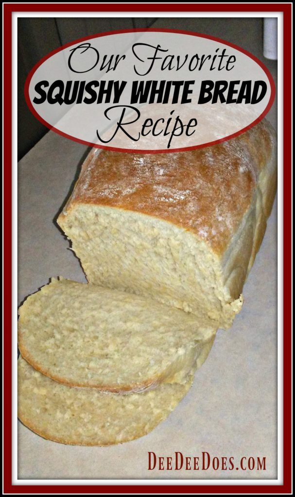 our favorite squishy white bread recipe