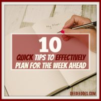 10 tips effectively plan week