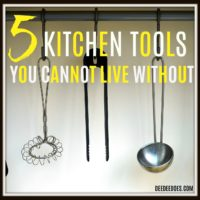5 kitchen tools cannot live