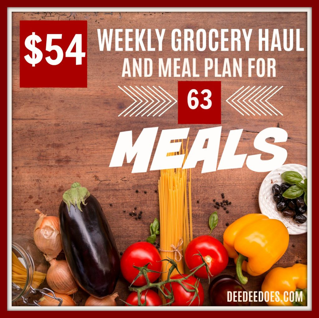 Weekly Grocery Haul Meal Plan