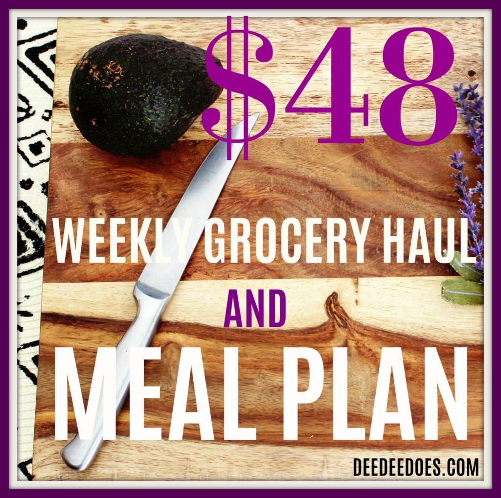 $48 Weekly Grocery Haul Meal Plan