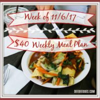Our $40 Weekly Grocery Haul, List and Meal Plan for the Week of November 6