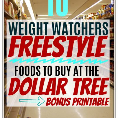 The Dollar Tree's Top 10 Weight Watchers Freestyle Friendly Foods + BONUS Printable