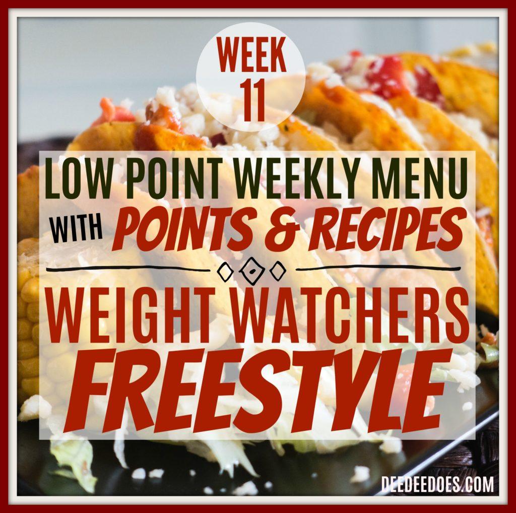 Weight Watchers Freestyle Diet Plan Menu Week 3/12/18