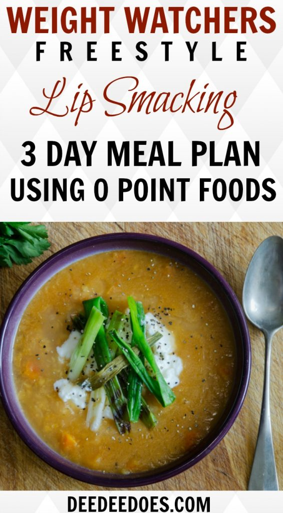 Weight Watchers Freestyle 3 Day Meal Plan Using 0 Point Foods