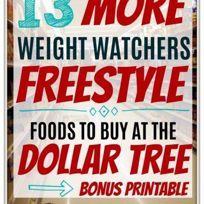 13 More Dollar Tree Weight Watchers Freestyle Friendly Foods + Bonus Printable