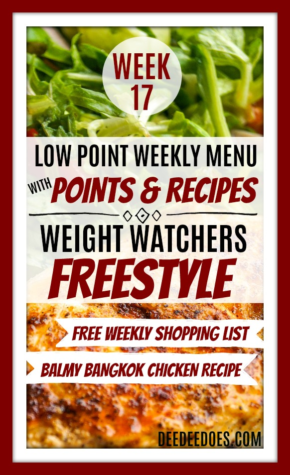 Week 17 Weight Watchers Freestyle Diet Plan Menu Week 4/23/18