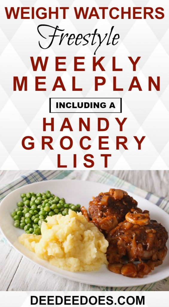 Weight Watchers Freestyle Diet Plan Menu + Free Grocery List