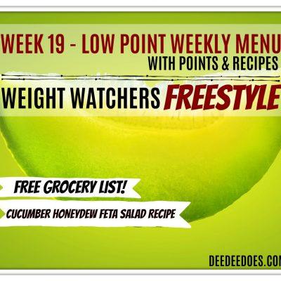 Week 19 – Weight Watchers Freestyle Diet Plan Menu – Week of 5/7/18 – Free Grocery List