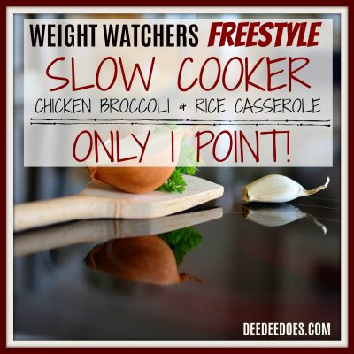 Weight Watchers Freestyle Recipe for Slow Cooker Chicken Broccoli & Rice Casserole – 1 Point!
