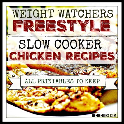 Weight Watchers Freestyle Slow Cooker Chicken Recipes – Printable Healthy & Low Fat Recipes