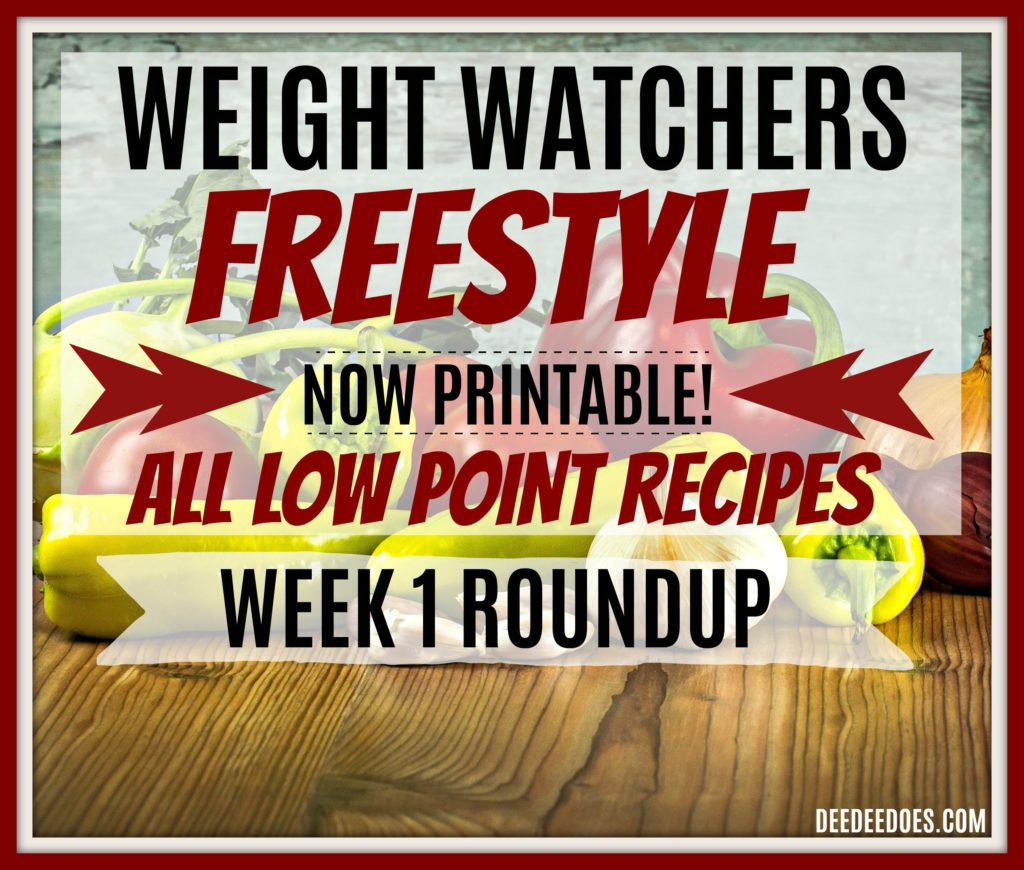 Low Point Weight Watchers Freestyle Recipes Printable