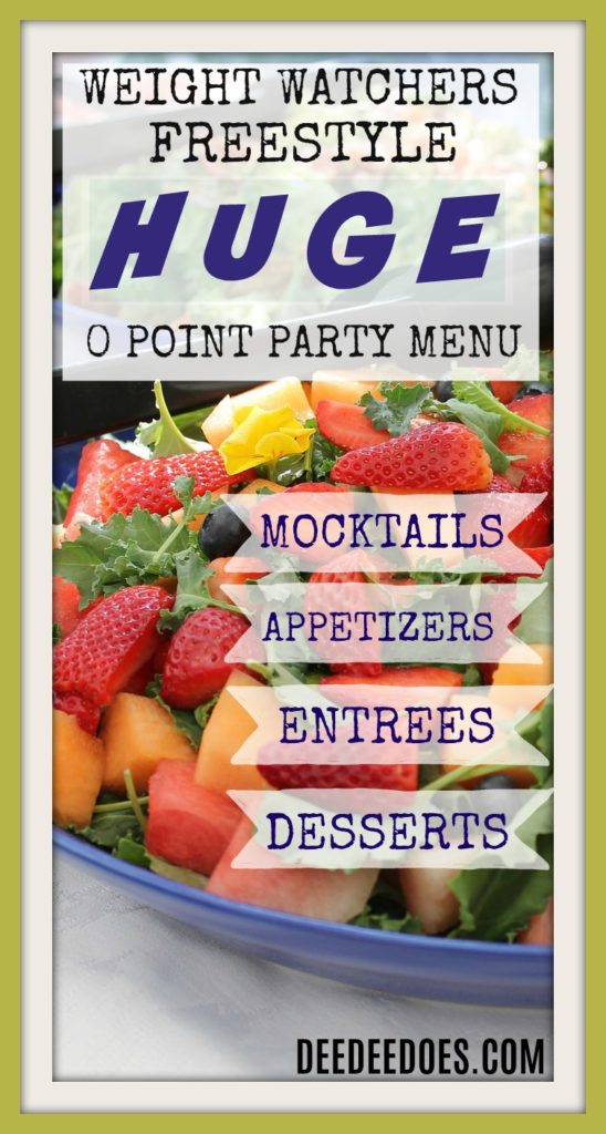 July 4th Weight Watchers Freestyle 0 Point menu recipes