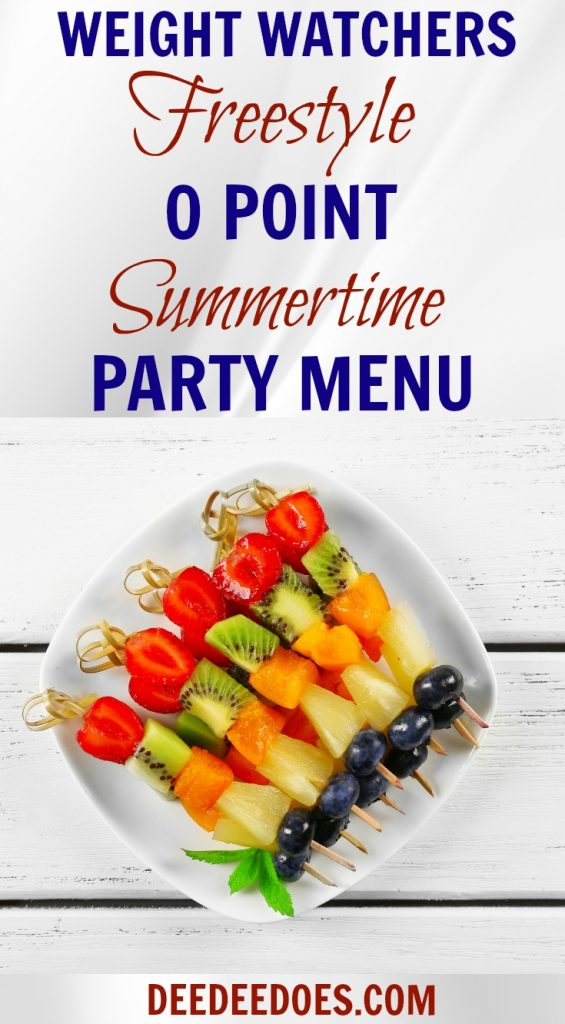 Weight Watchers Freestyle 0 Point July 4th Menu