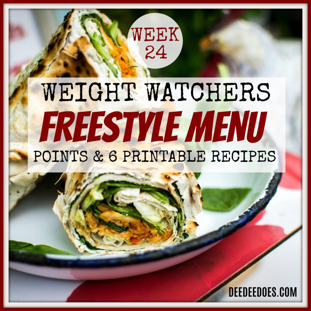 Week 24 Weight Watchers Freestyle Diet Plan Menu Week 6/18/18
