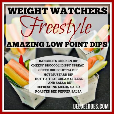 Amazing Low Point Weight Watchers Freestyle Dips-Healthy Low Fat Dips