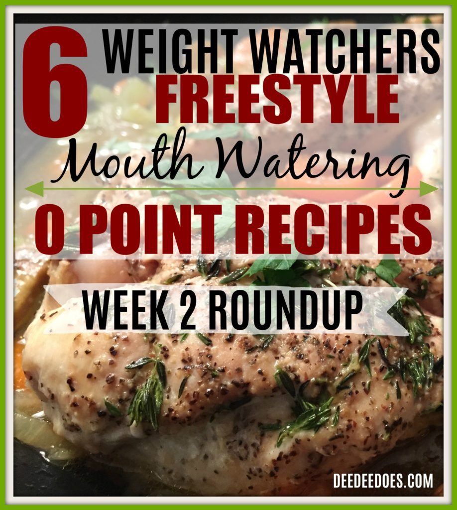 0 point printable Weight Watchers Freestyle recipes