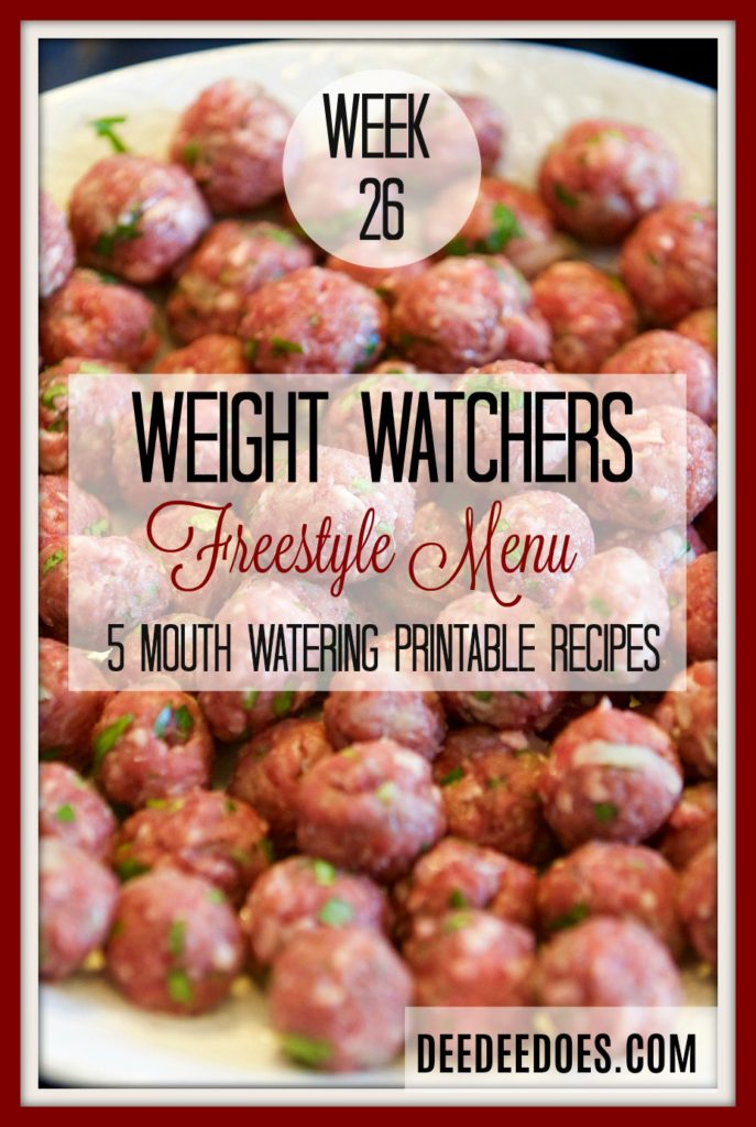 Weight Watchers Freestyle Diet Plan Menu Week 7/2/18