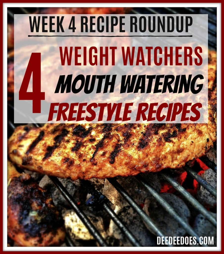Week 4 Roundup Printable Weight Watchers Freestyle recipes