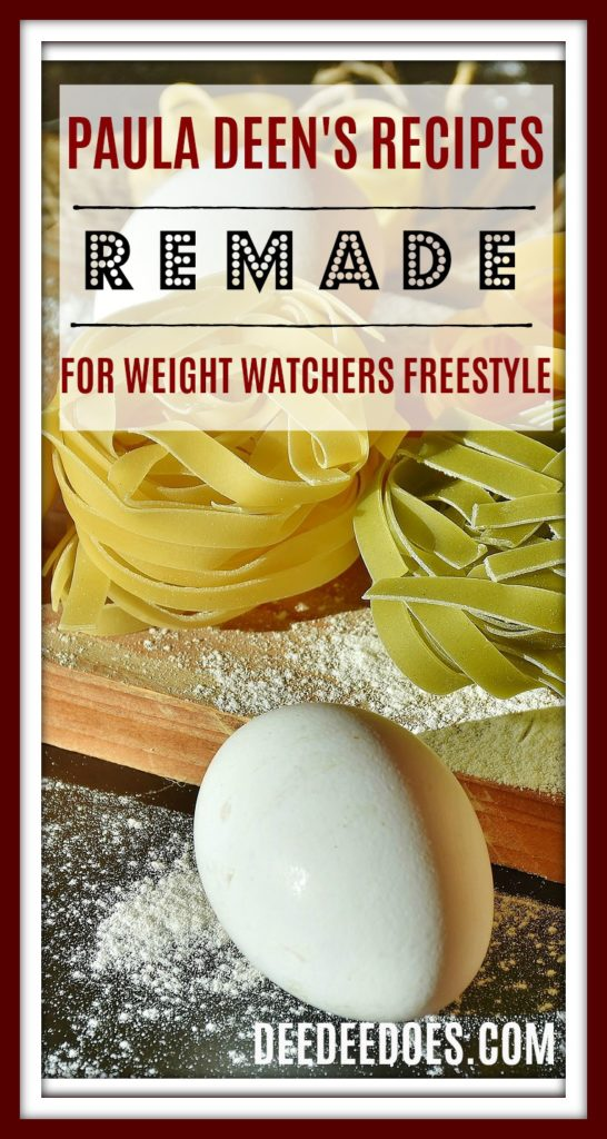 complete daily menu Paula Deen's Recipes Remade Weight Watchers Freestyle