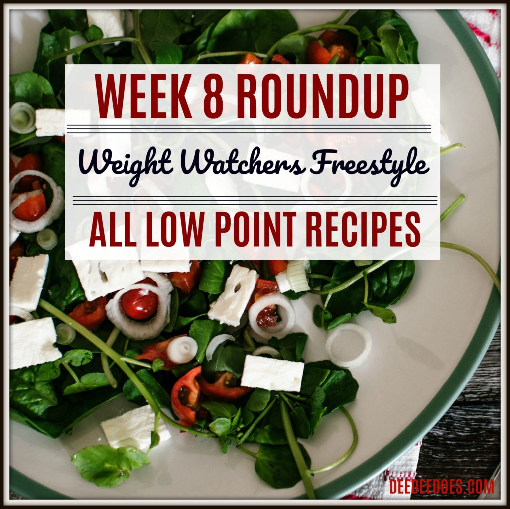 Week 8 Roundup of all printable Weight Watchers Freestyle Recipes