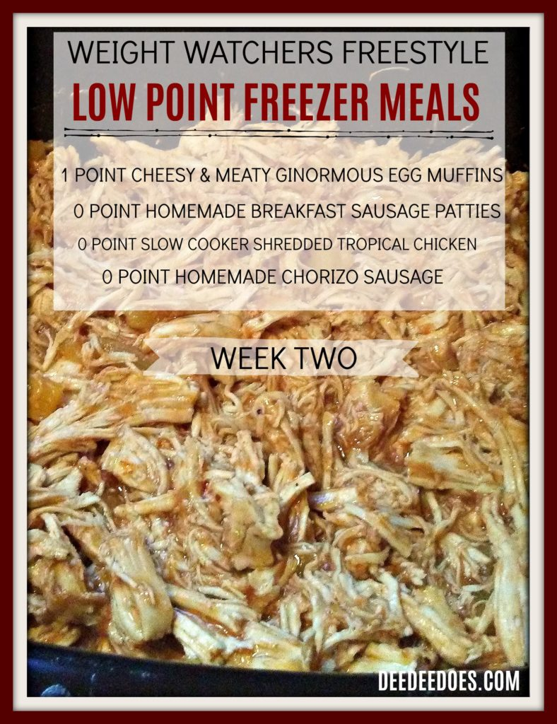Low Point Freezer Meals Perfect Weight Watchers Freestyle Week 2