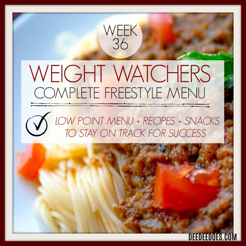 Week 36 Weight Watchers Freestyle Diet Plan Menu Week 9/14/18