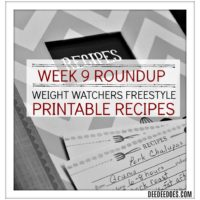 Week 9 Roundup Printable Weight Watchers Freestyle Recipes
