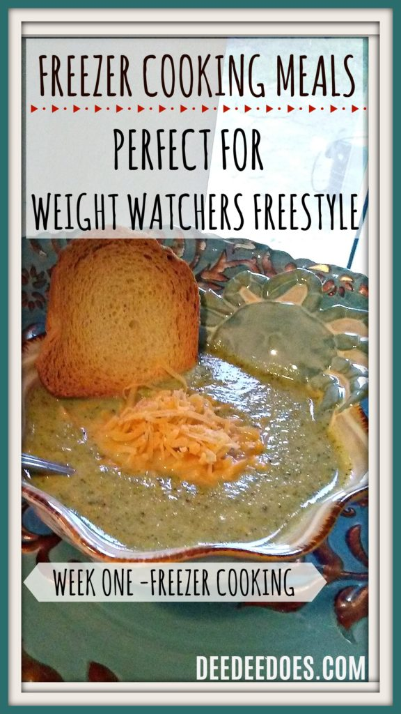 Low Point Freezer Cooking Meals Weight Watchers Freestyle Week 1