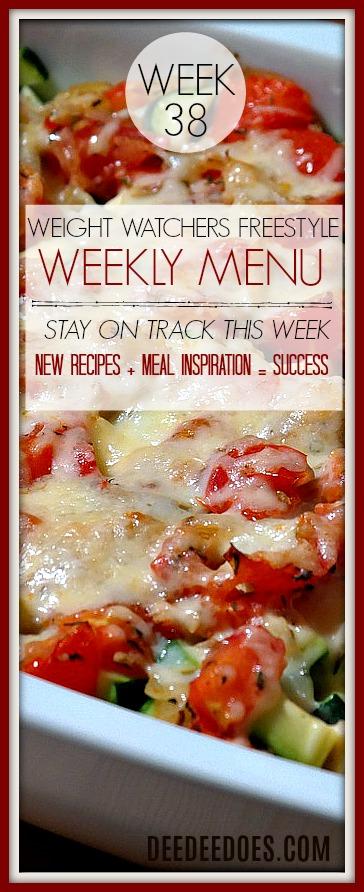 Week 38 Weight Watchers Freestyle Diet Plan Menu Week 9/28/18