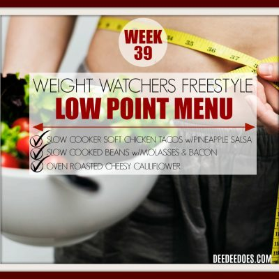 Week 39 – Weight Watchers Freestyle Diet Plan Menu – Week of 10/5/18