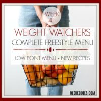Weight Watchers Low Point Freestyle Diet Plan Weight Loss Menu