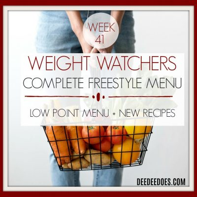 Week 41 – Weight Watchers Low Point Freestyle Diet Plan Weight Loss Menu- Week of 10/22/18
