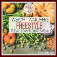 7 Day Low Point Weight Watchers Freestyle Weekly Menu