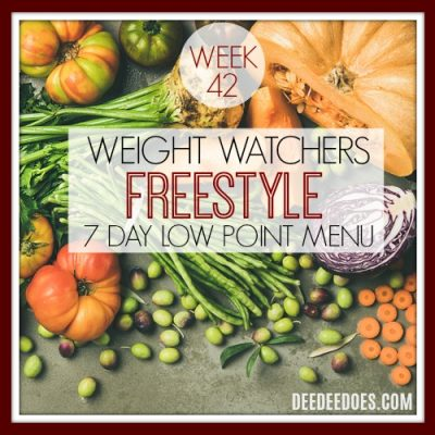 Week 42 – Low Point Weight Watchers Freestyle Weekly Menu- Week of 10/29/18