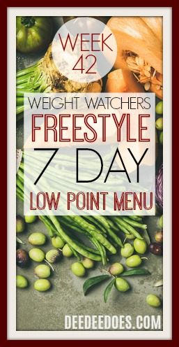 Low Point Weight Watchers Freestyle Weekly Menu