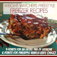 Low Point Freezer Cooking Meals Weight Watchers Freestyle Week 3