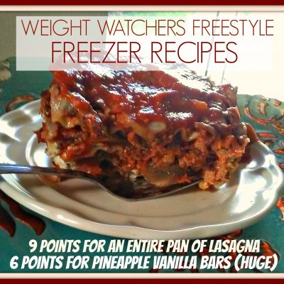 Low Point Freezer Cooking Meals Perfect for Weight Watchers Freestyle – Week 3 – PIC HEAVY POST