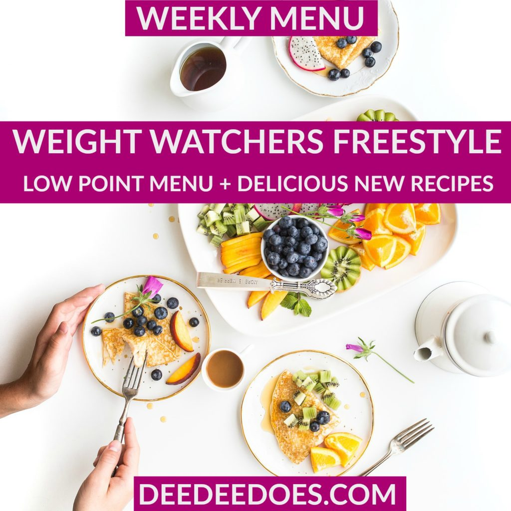weight watchers freestyle weekly menu